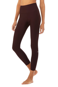 7/8 High Waist Airlift Legging- Oxblood