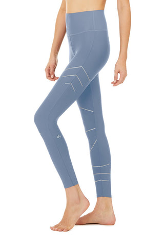 High Waist Sequence Legging- Blue Jean