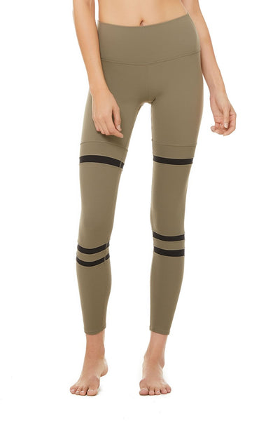 High Waist Legit Legging- Olive Branch Black