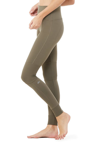 High Waist Avenue Legging- Olive Branch