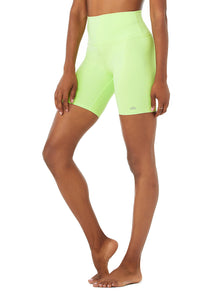 High Waisted Biker Short - Neon Lime