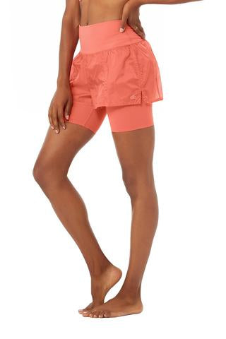 High Waist Circuit Short Strawberry