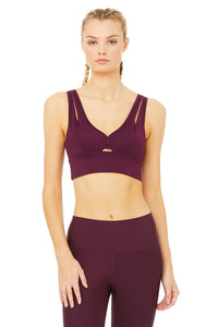 United Long Bra - Black Plum