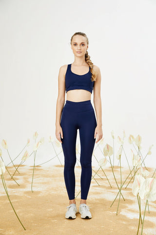 Bellis Activewear High Waist Push Up Tayt- Navy