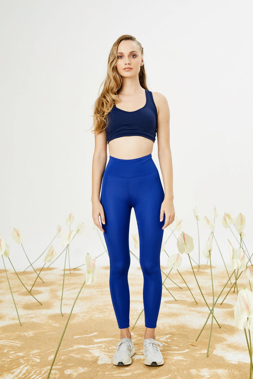 Bellis Activewear High Waist Push Up Tayt- Indigo