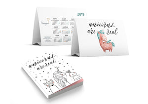 """Unicorns Are Real"" Takvim + Defter Seti"
