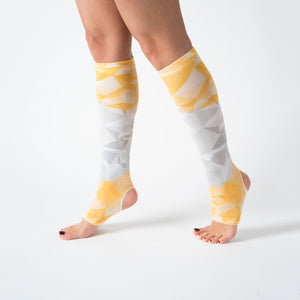 Yoga / Pilates Çorap Knee Yellow