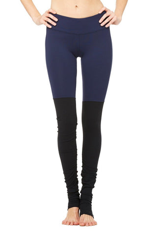 Goddess Legging - Rich Navy / Black