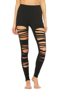 High-Waist Extreme Ripped Warrior - Black