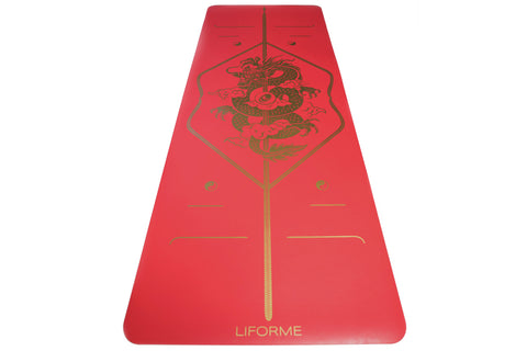 LIFORME DRAGON RED YOGA MAT - KIRMIZI EJDERHA YOGA MATI