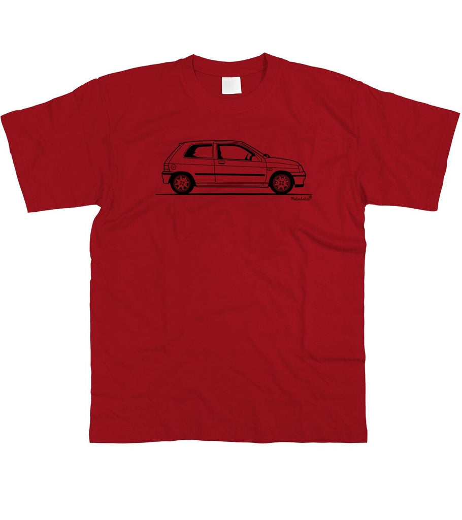 Motorholics Mens Original Sketch Renault Clio Williams T-Shirt S - 5XL (Small, Lime Green)