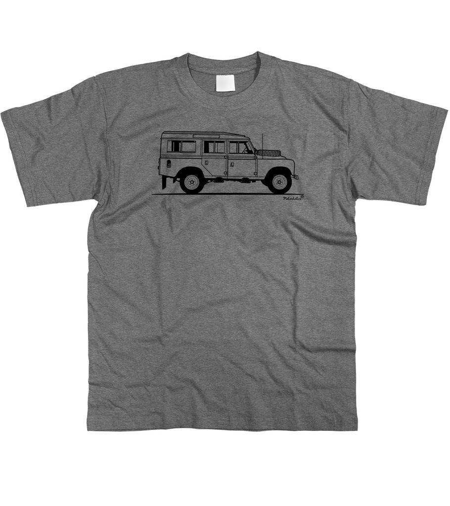 Motorholics Mens Original Sketch Land Rover 109 Series 3 LWB III T-Shirt S - 5XL