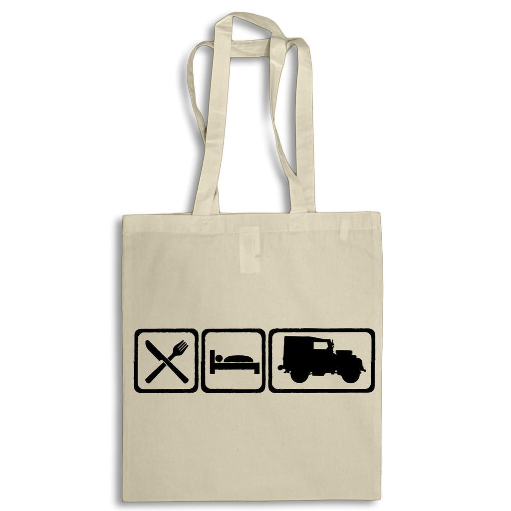 Eat Sleep SERIES 1 Tote Bag for Life Cotton Shopping Land Rover 4x4 Defender