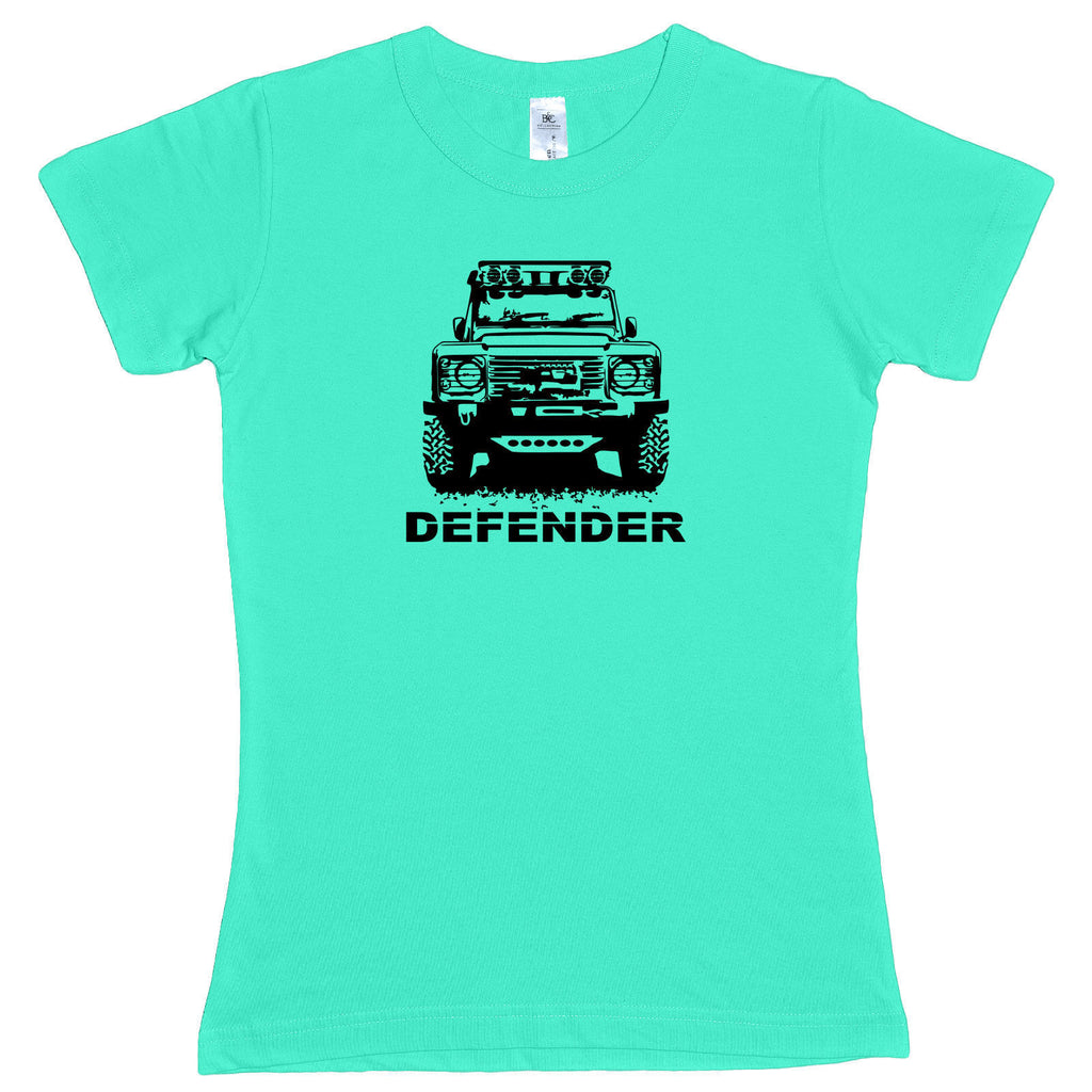 Ladies Land Rover MODIFIED DEFENDER 90 110 Off Road TDI 4×4 fitted T Shirt