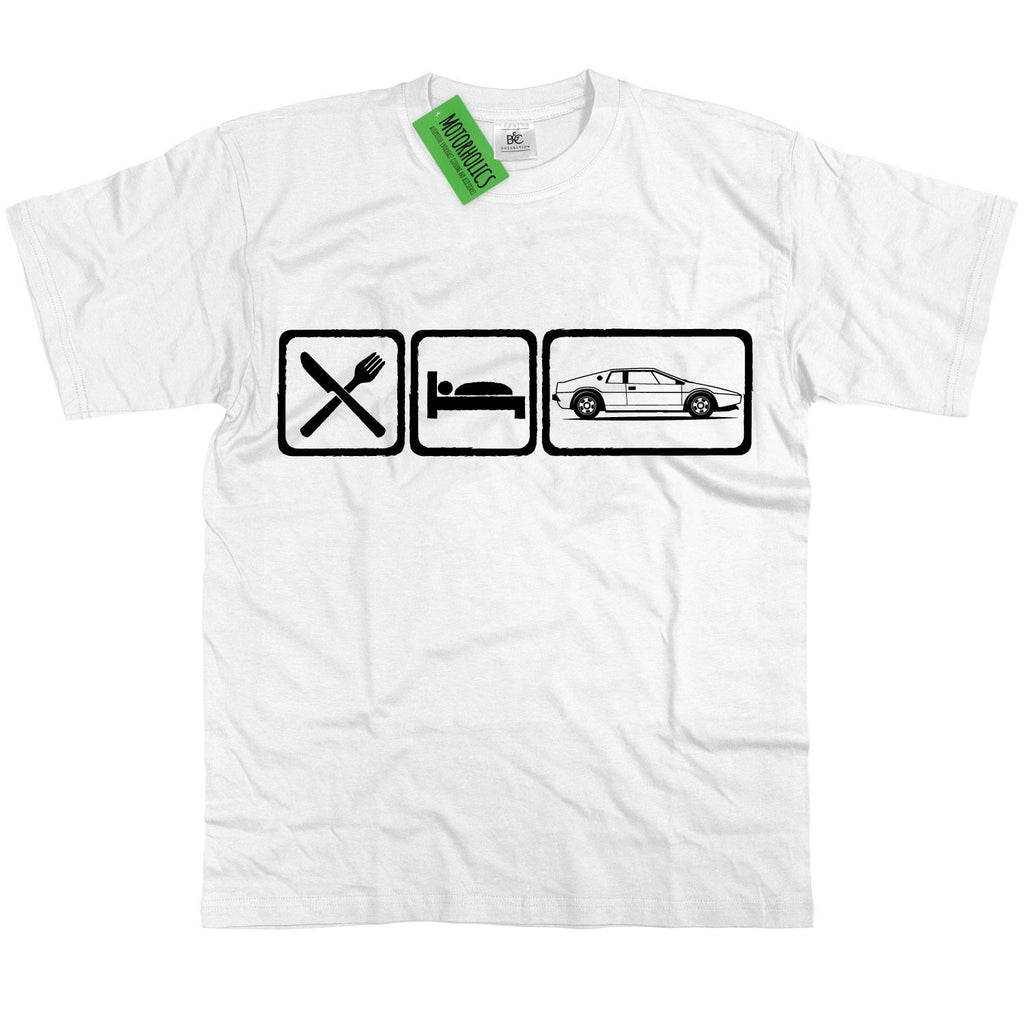 Mens Eat Sleep Lotus Esprit S1 Sports Car T Shirt