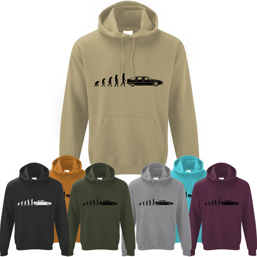 Mens Evolution of Ape to Citroen CX Hoodie ~ Hoody Retro Classic French Citroën