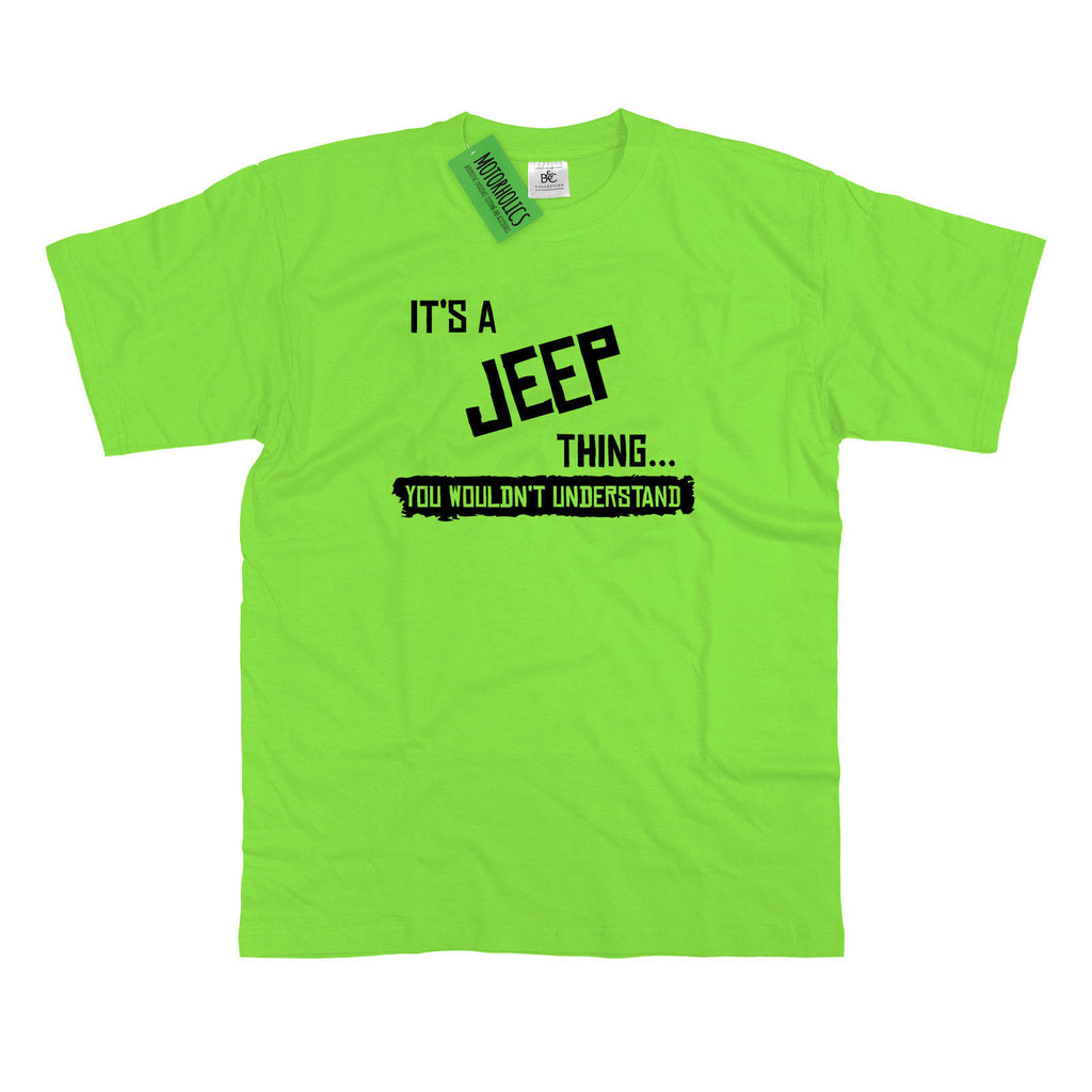 Mens It's a Jeep thing… you wouldn't understand T Shirt Classic Retro 4×4
