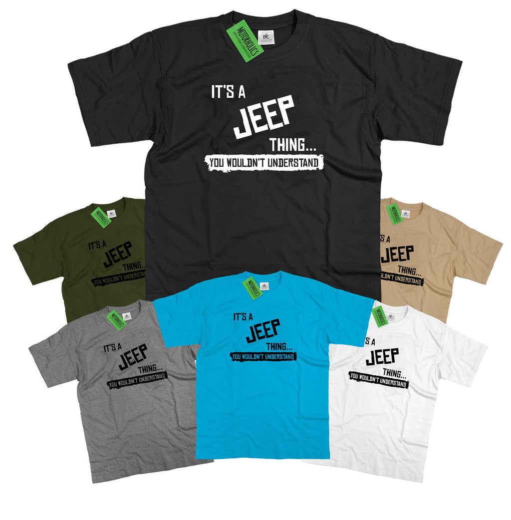 Mens It's a Jeep thing... you wouldn't understand T Shirt Classic Retro 4x4