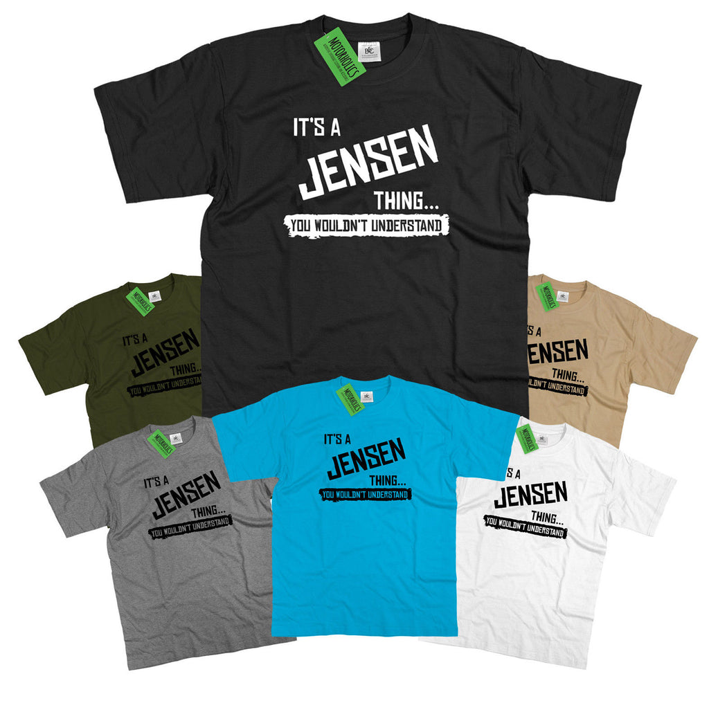 Mens It's a Jensen thing... you wouldn't understand T Shirt Classic Retro sports