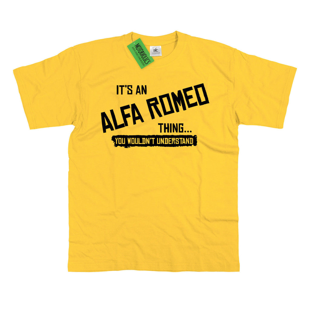 Mens It's an Alfa Romeo thing… you wouldn't understand T Shirt Classic Retro