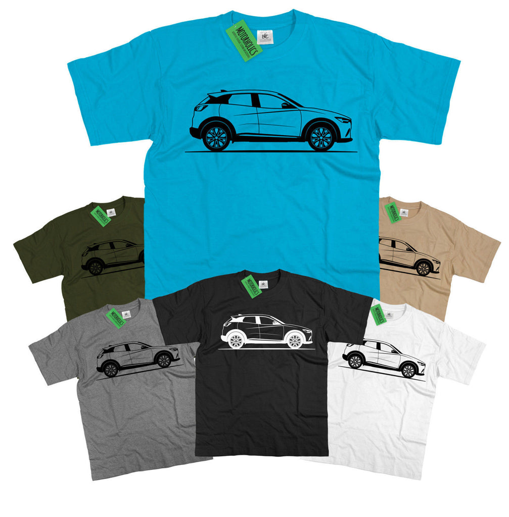Mens Mazda CX3 Original Sketch T-Shirt CX-3 S-5XL