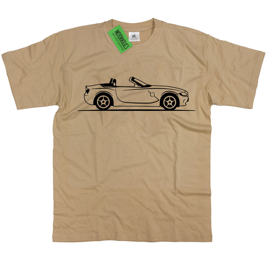Mens Original Sketch BMW Z4 Convertible T Shirt ~ Retro German Sports Car M