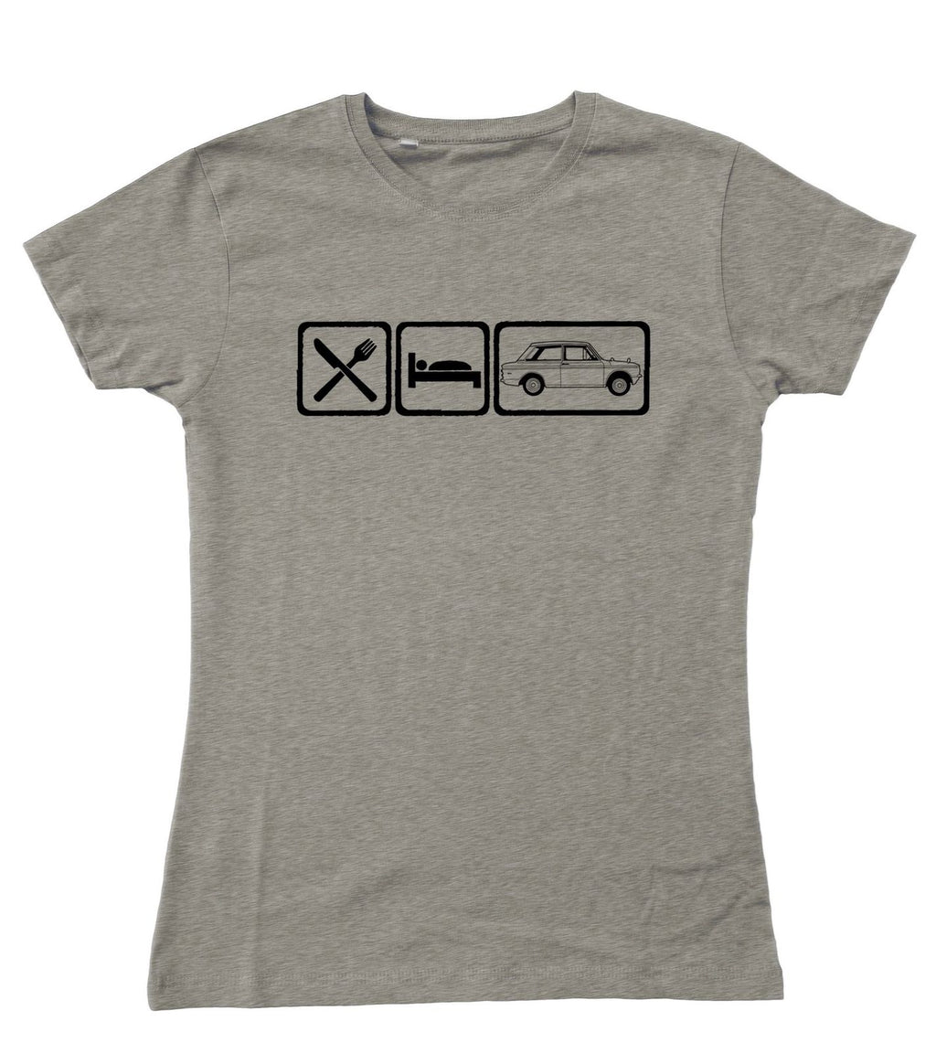 Motorholics Ladies EAT Hillman Imp Fitted T-Shirt S - 2XL / 10 - 18