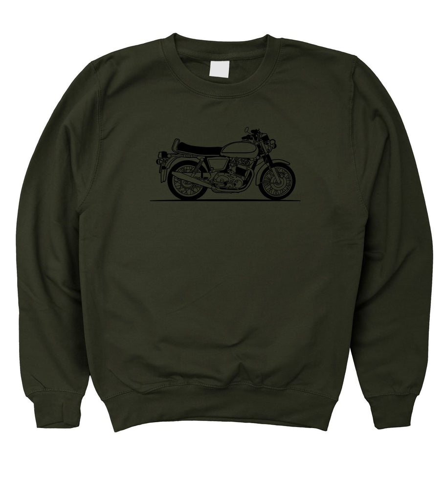 Motorholics Mens Original Sketch Norton Commando Sweatshirt S - 5XL - Motorholics