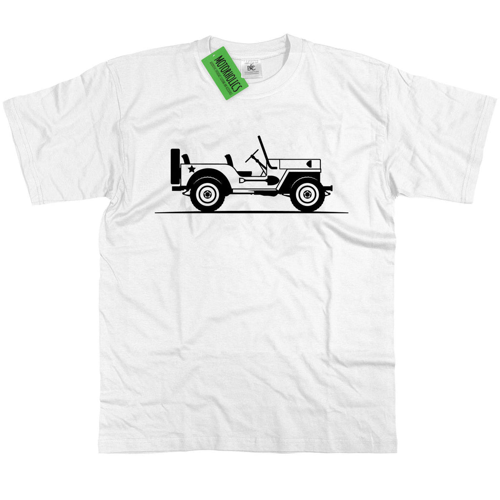 Original Sketch Willys Jeep Army Truck T Shirt