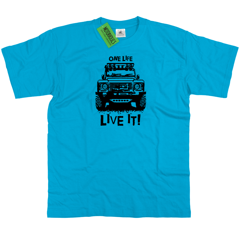 One Life Live It Land Rover Defender T Shirt