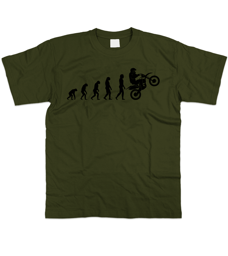 Mens Evolution of Ape to Motocross T Shirt