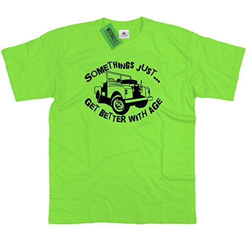 Motorholics ' Somethings Just.. Better with Age ' Land Rover Series 1 T-Shirt S-5XL