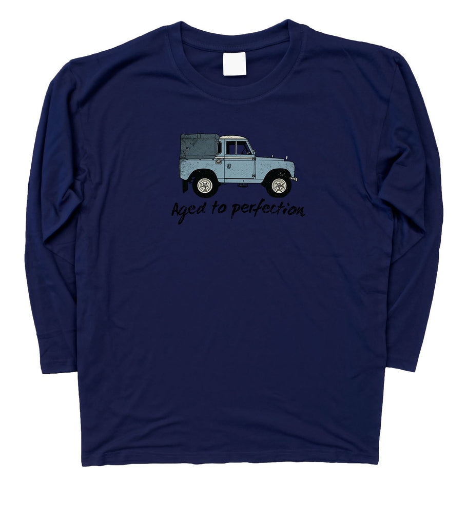 Aged to Perfection Land Rover Fathers Day Birthday Long Sleeve T-Shirt S - 3XL - Motorholics