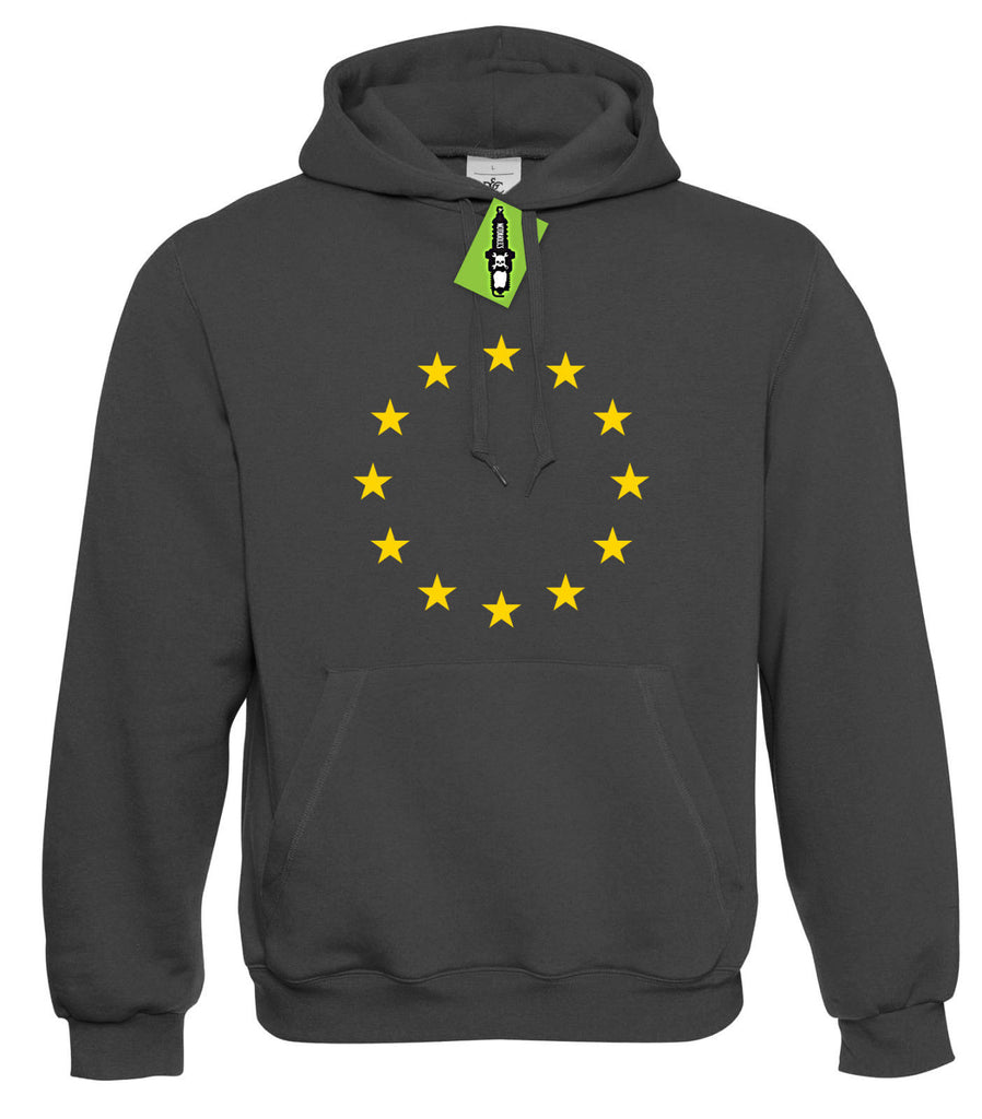 EU Flag Hoodie - Stronger in Europe Vote Remain Brexit Hoody S - 4XL