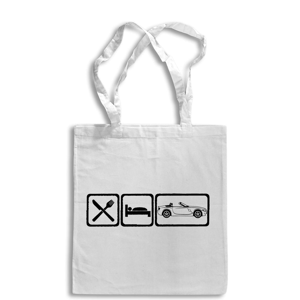 Eat Sleep BMW Z4 Tote Bag for Life Cotton Shopping Retro German Sports Car