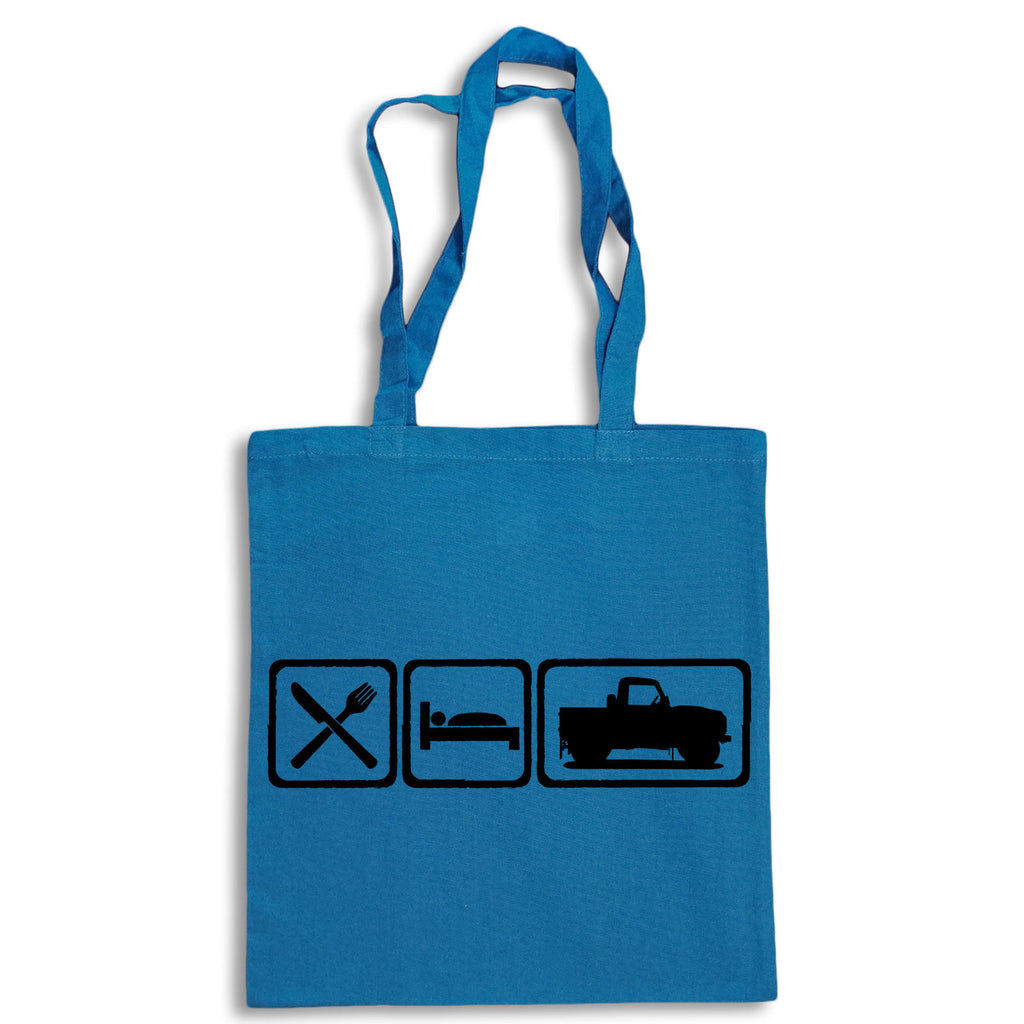 Eat Sleep Defender 90 Pickup Tote Bag for Life Cotton Shopping Retro Landrover