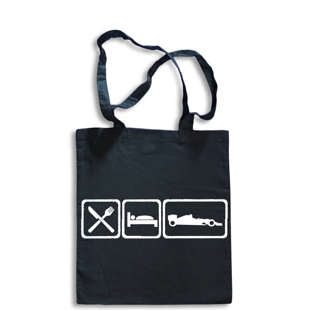 Eat Sleep Formula One Tote Bag for Life Cotton Shopping Racing car Formula 1 F1