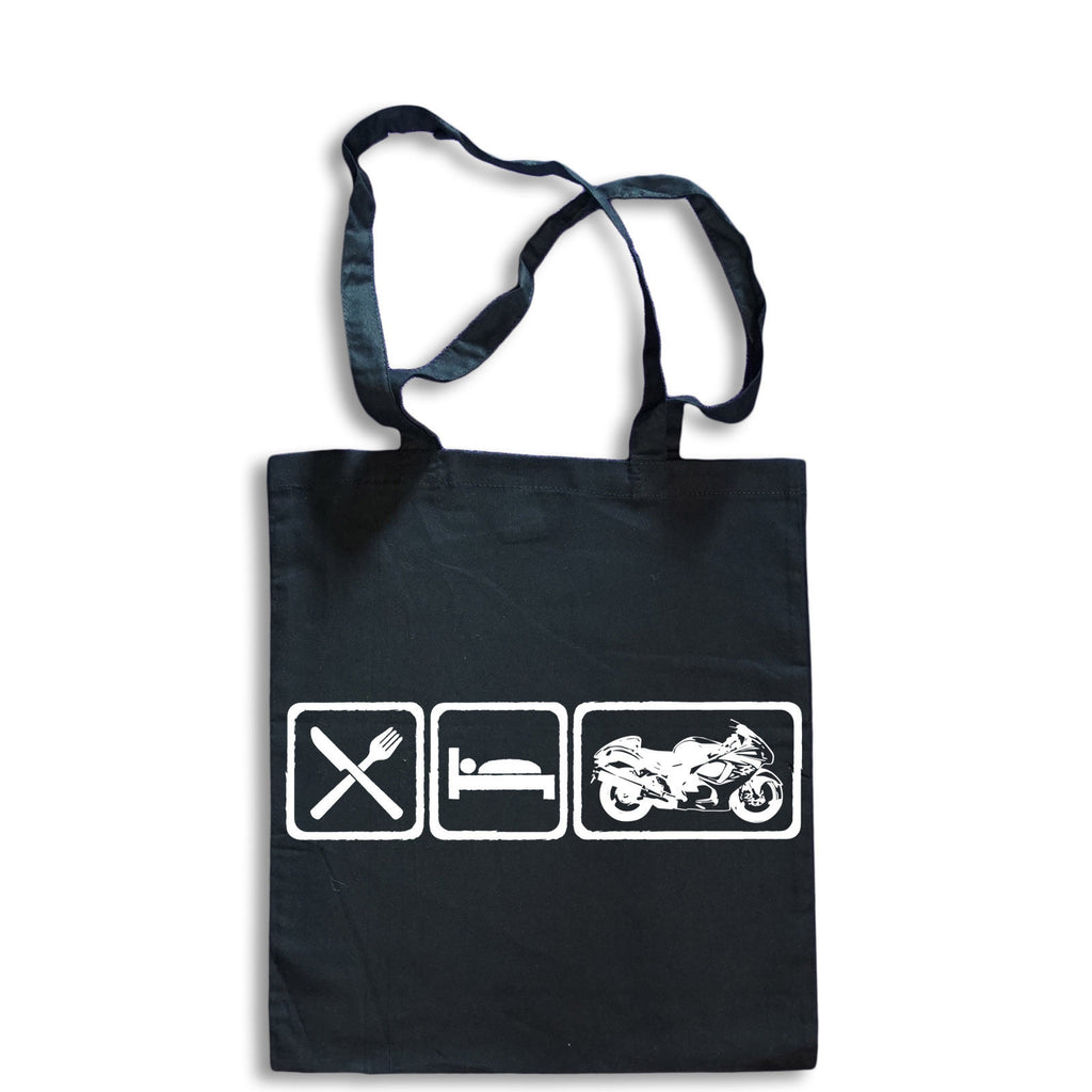 Eat Sleep Hayabusa Tote Bag for Life Cotton Shopping Suzuki Motorbike GSX1300R