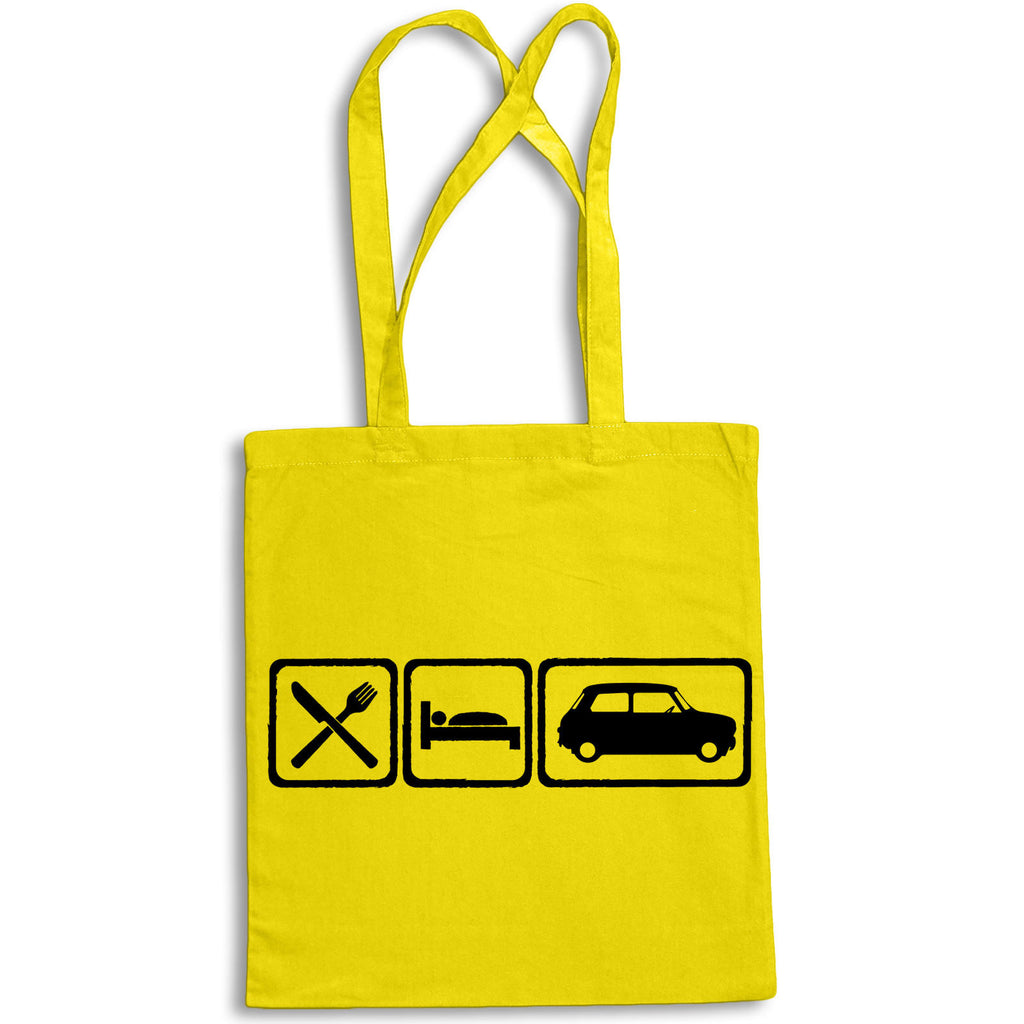 Eat Sleep MINI Tote Bag for Life Cotton Shopping Retro Cooper S Austin Morris