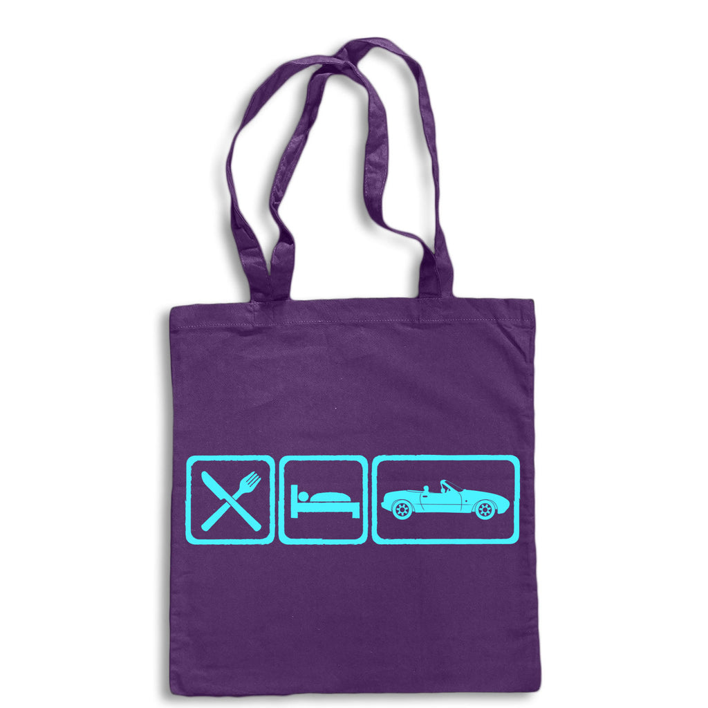 Eat Sleep MX5 MK1 Tote Bag for Life Cotton Shopping Retro Mazda Sportscar