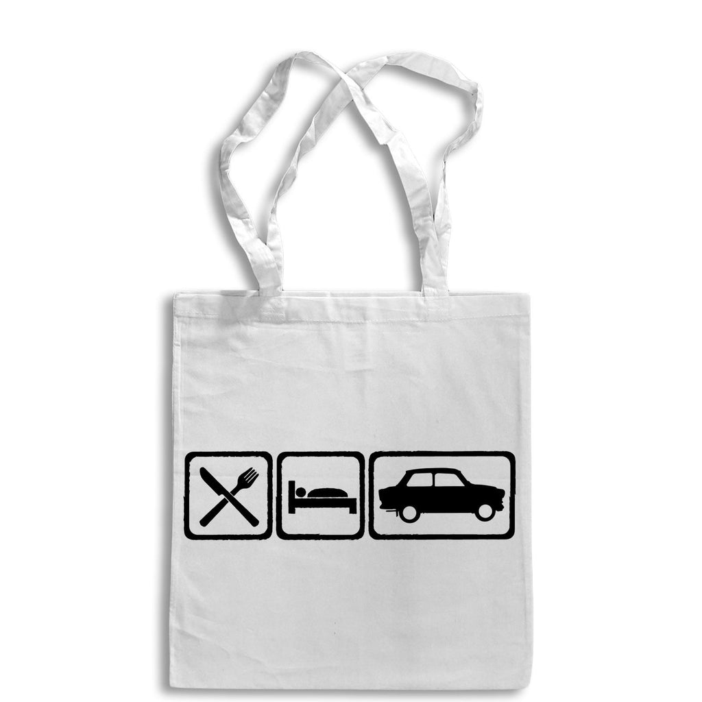 Eat Sleep TRABANT Tote Bag for Life Cotton Shopping East German Car Retro 601