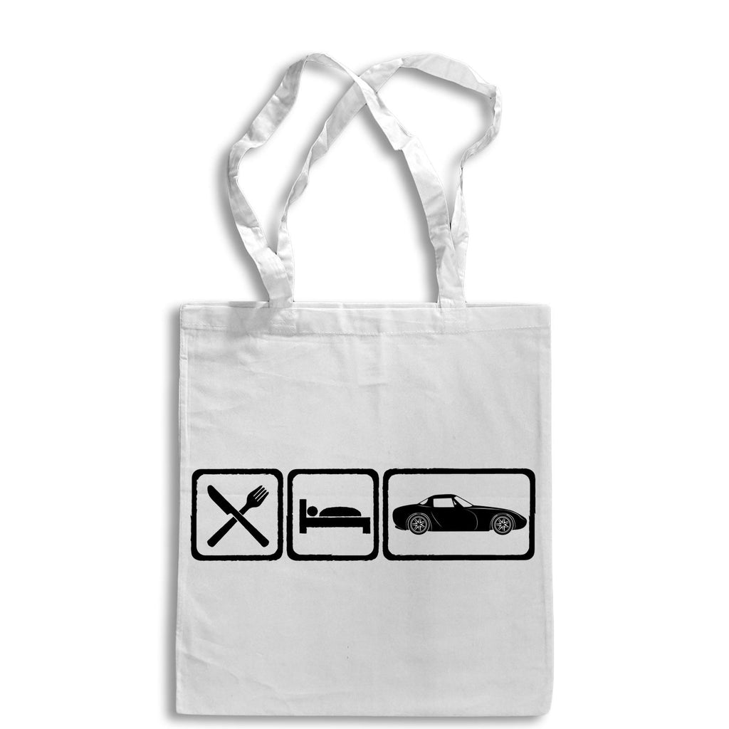 Eat Sleep TVR GRIFFITH Tote Bag for Life Cotton Shopping 400 500 Sportscar