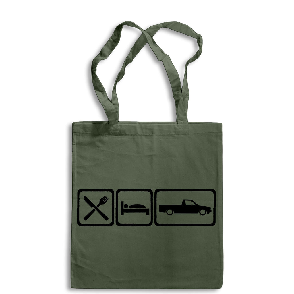 Eat Sleep VW Caddy Tote Bag for Life Cotton Shopping Volkswagen Pickup Mk 1 Mark