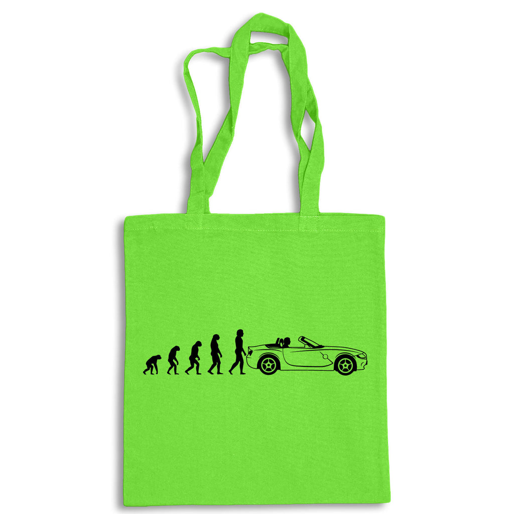 Evolution of Ape to BMW Z4 Tote Bag for Life Cotton Shopping German Sports Car
