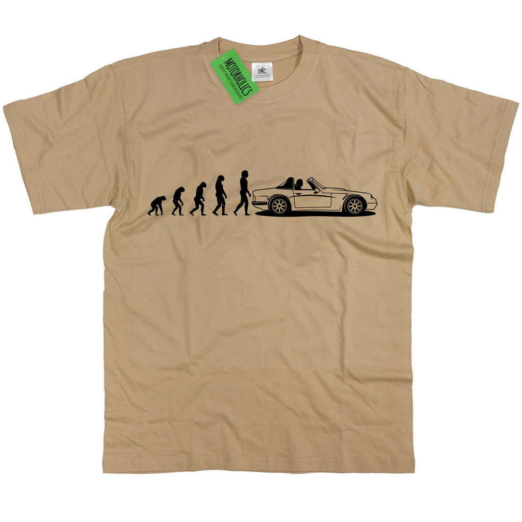 Evolution of Man to TVR S Series Classic British Sports Car S2 S3 S4 V8S T Shirt