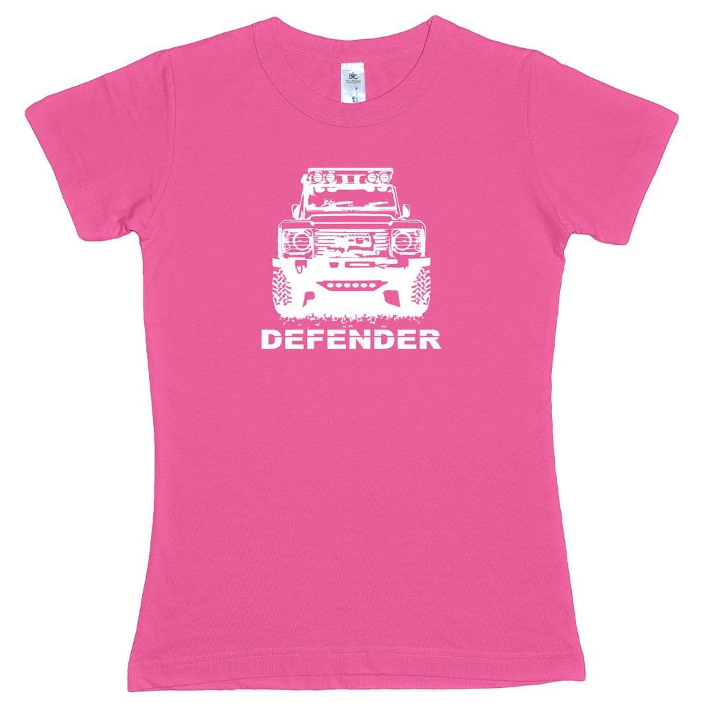 Ladies Land Rover MODIFIED DEFENDER 90 110 Off Road TDI 4x4 fitted T Shirt