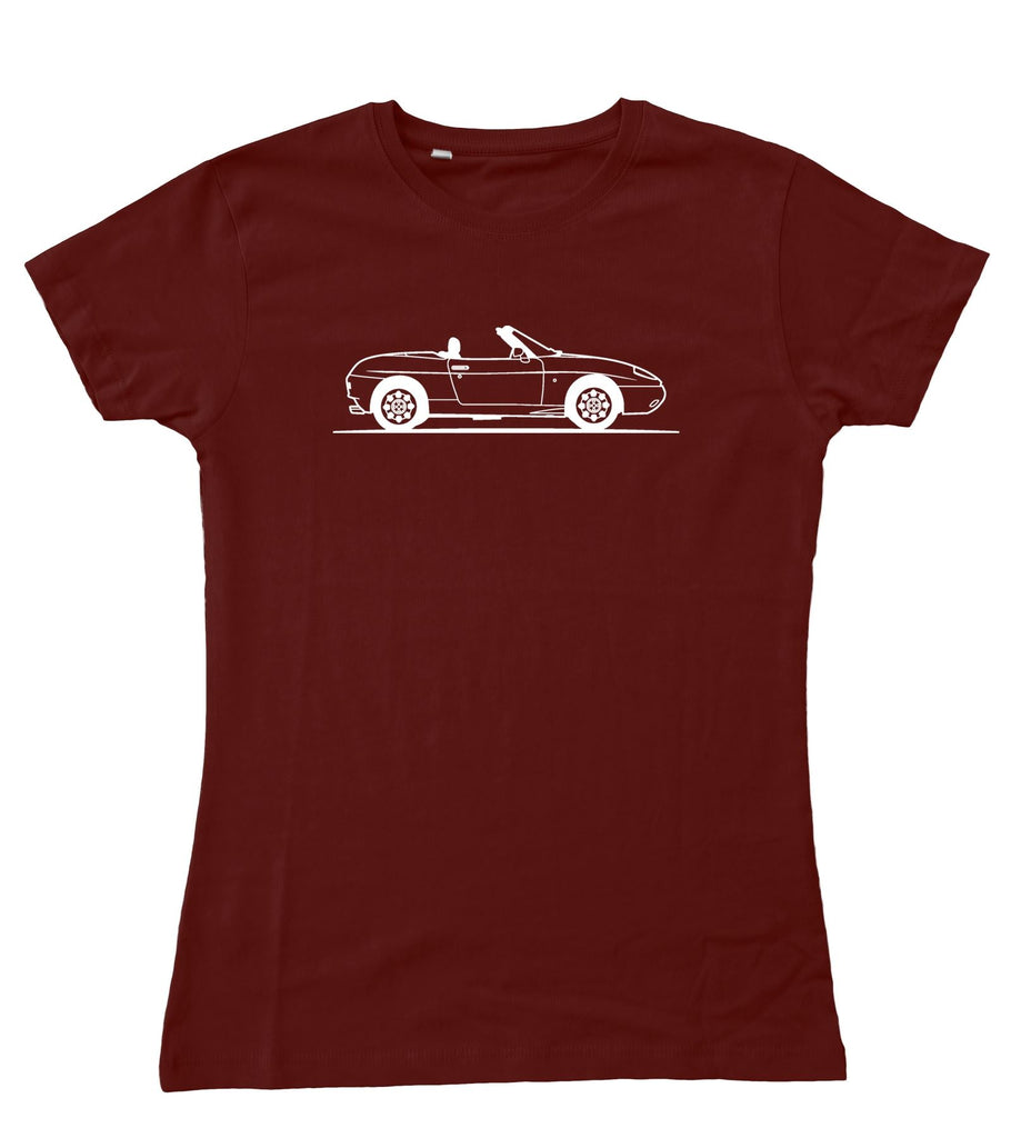 Ladies Original Sketch Fiat Barchetta Fitted T-Shirt S - 2XL / 10 - 18