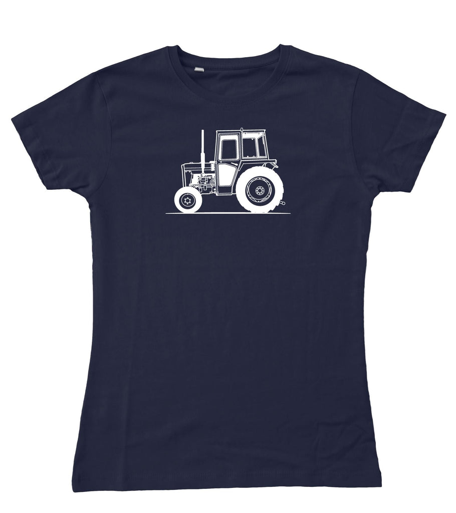 Ladies Original Sketch Massey Ferguson 20B Tractor Fitted T-Shirt S - 2XL