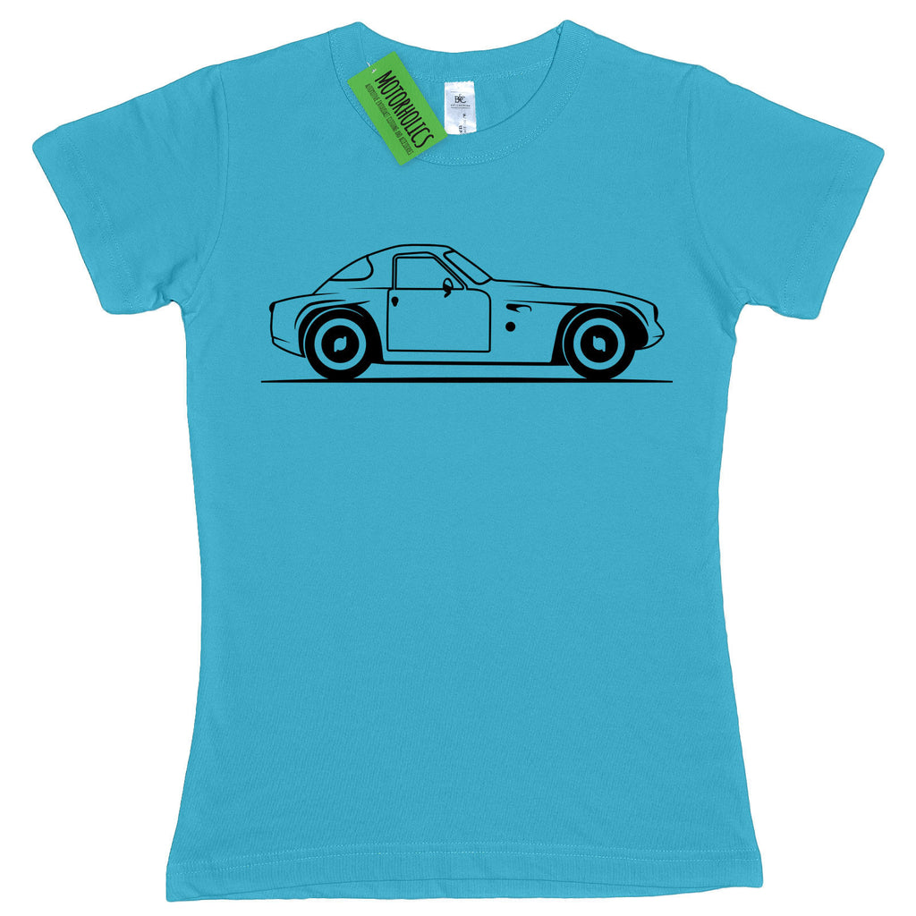 Ladies Original Sketch TVR Grantura fitted T Shirt RETRO CLASSIC SPORTS CAR