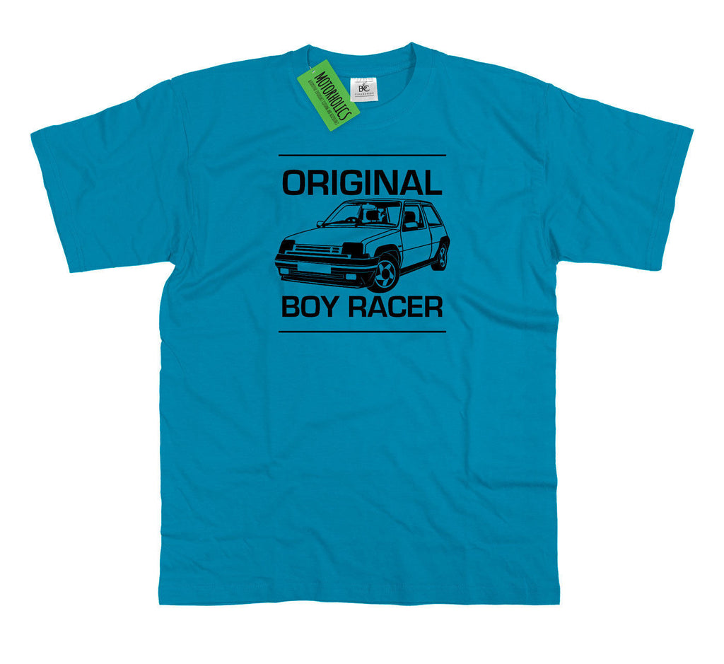 Mens ' Original Boy Racer ' Renault 5 GT Turbo T Shirt Classic Retro French Car